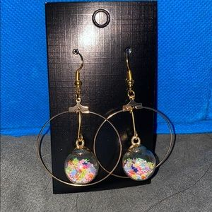 Confetti Dangle Earring Hoops